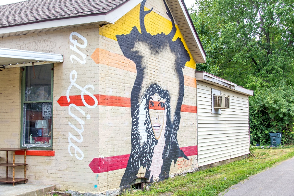 Buffalogirl mural on Vintage On Lime by BroCoLoco in Lexington
