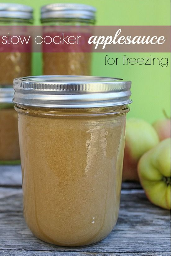 applesauce in canning jars for the freezer