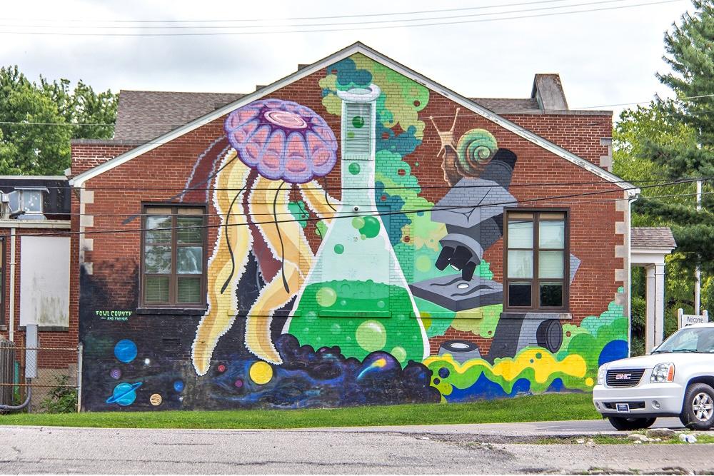 Steam Academy mural in Lexington.