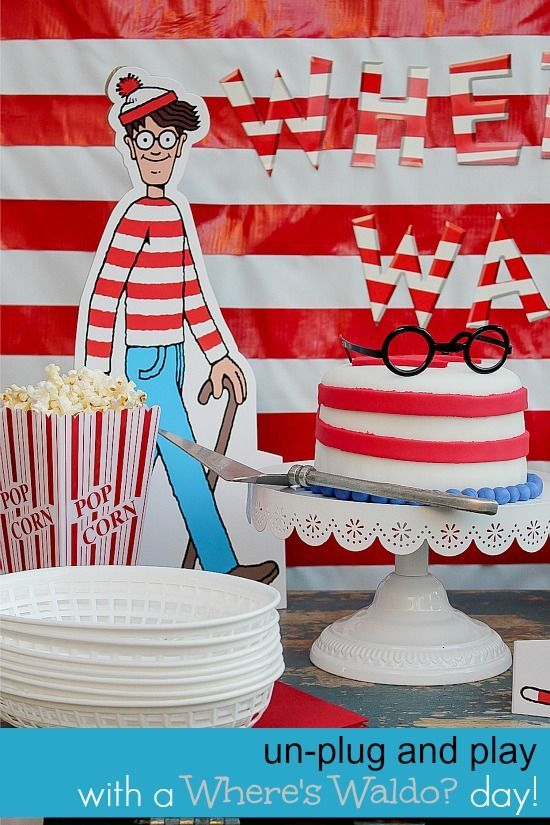 Where's Waldo party table for kids