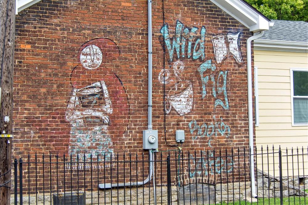Mural on Wild Fig Books & Coffee in Lexington