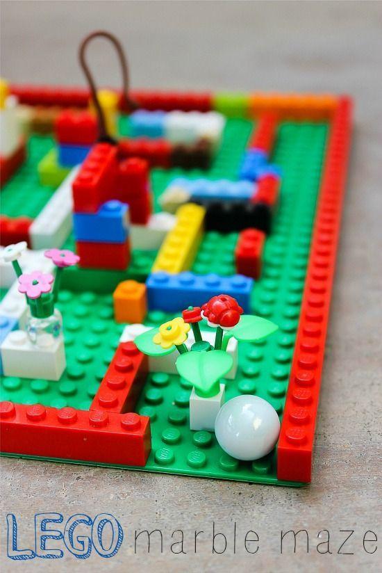 a lego marble maze