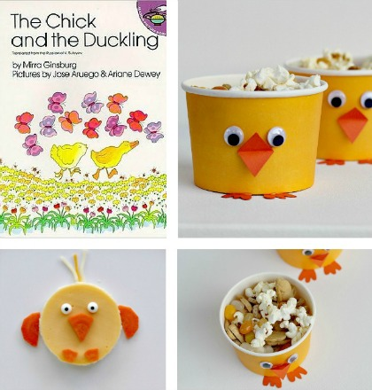 Chick and duckling storytime snacks and crafts for kids