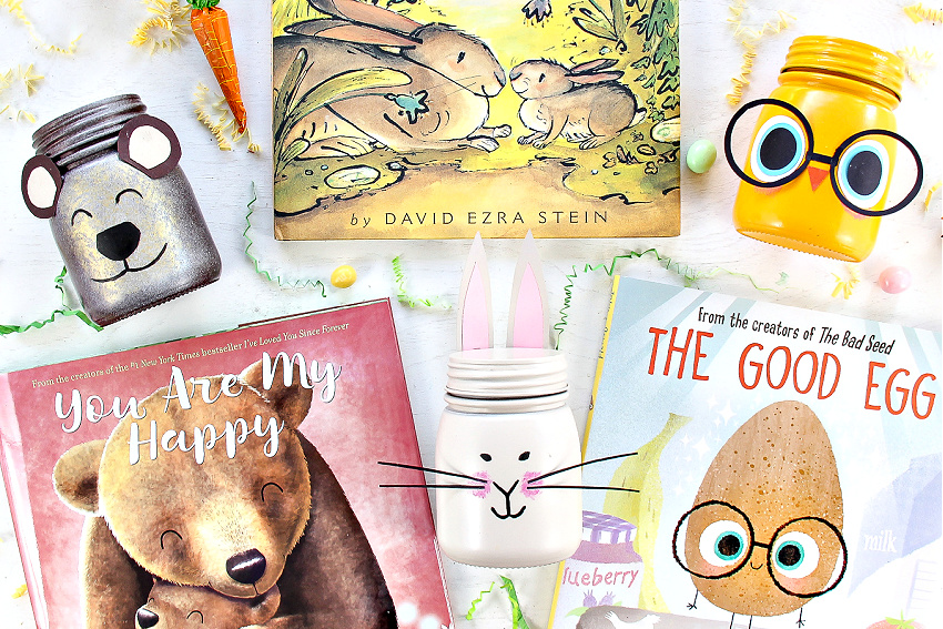 themed treat jar crafts inspired by children's Easter books