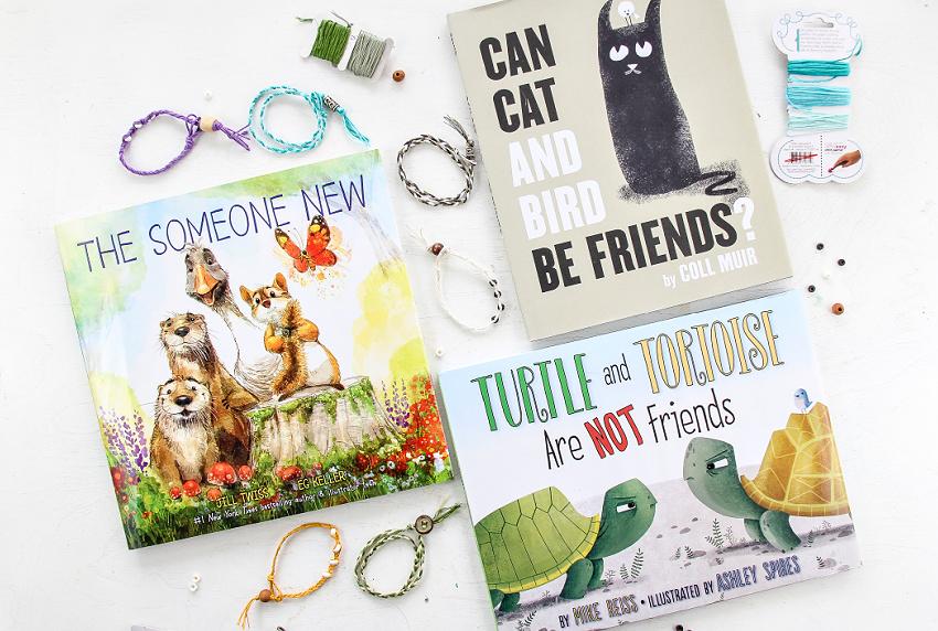 friendship day handmade bracelets and books for kids