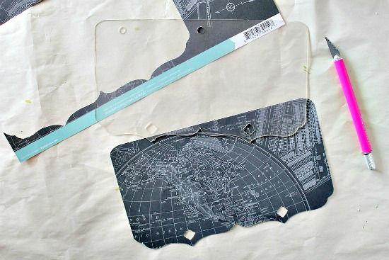 How to cut scrapbook paper to match scrapbook album acrylic sheets.