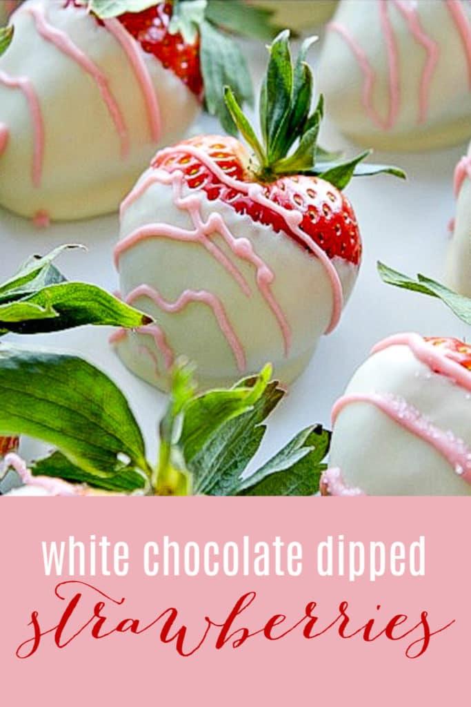 white chocolate covered strawberries pinterest image