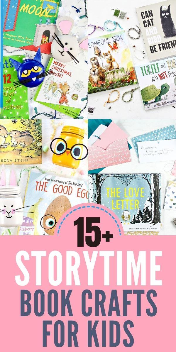 book crafts for kids Pinterest image