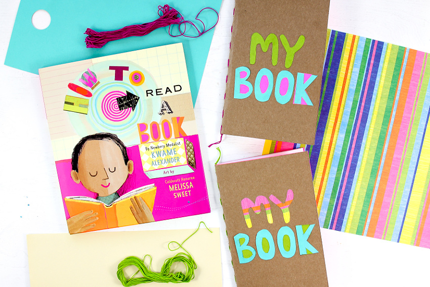 How to Read a book with a handamde cereal box journal craft