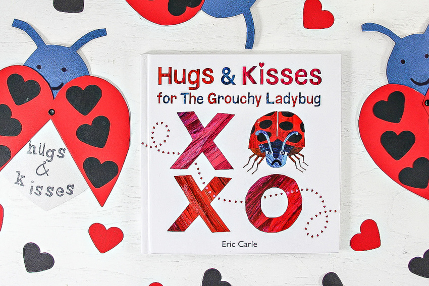 handmade valentines cards inspired by the grouchy ladybug book