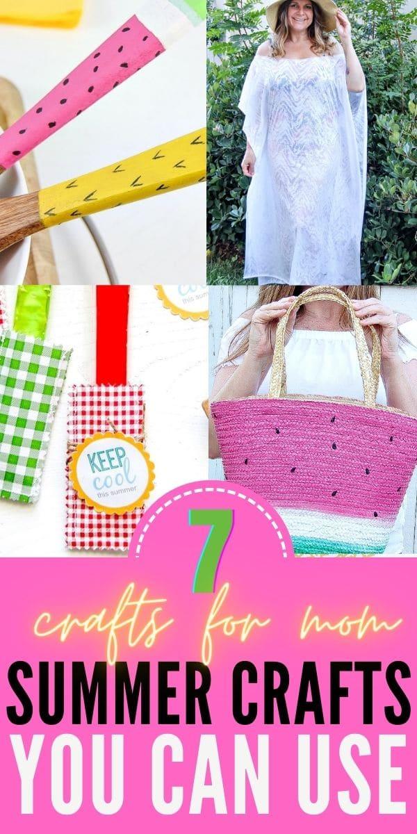 Summer crafts for mom Pinterest image
