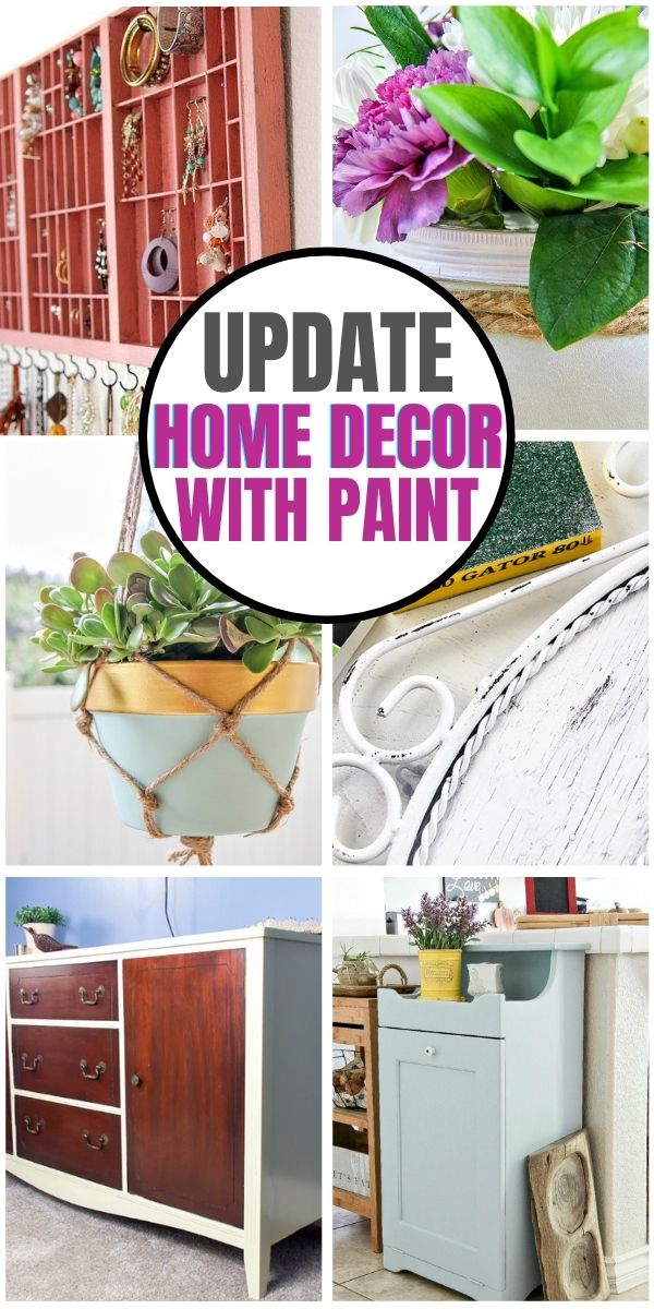 update home decor with paint Pinterest image