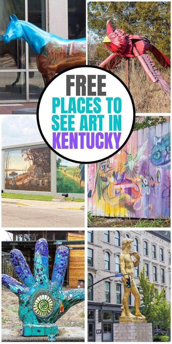 free art in kentucky Pinterest image