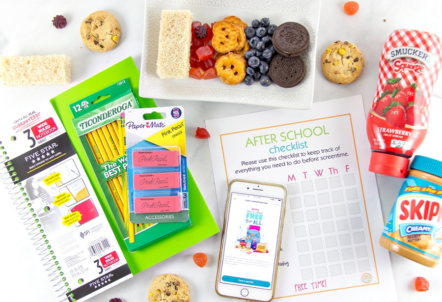 School supplies for kids and tips for getting them organized after school this year.