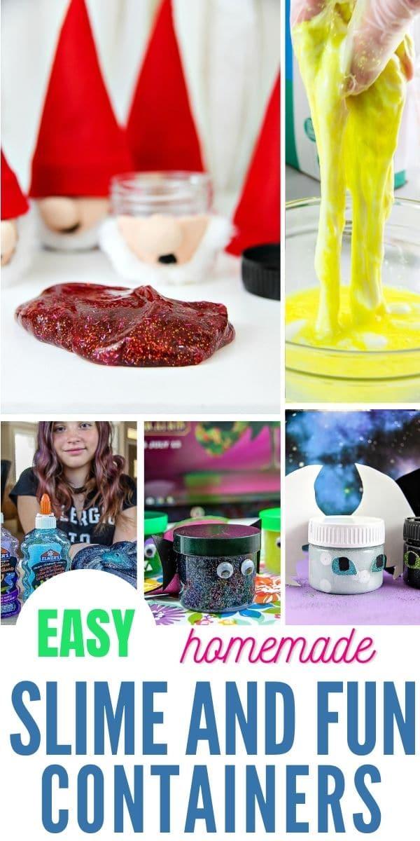 homemade slime Pinterest image