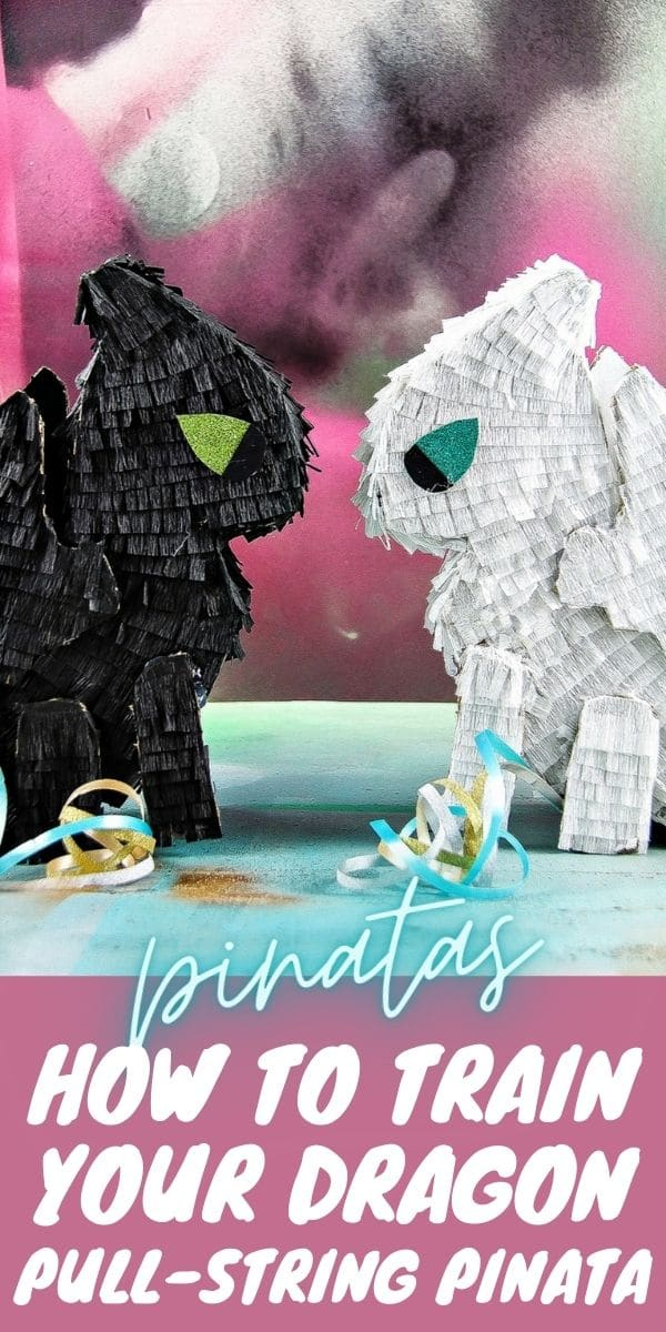 How to train your dragon pinata Pinterest image