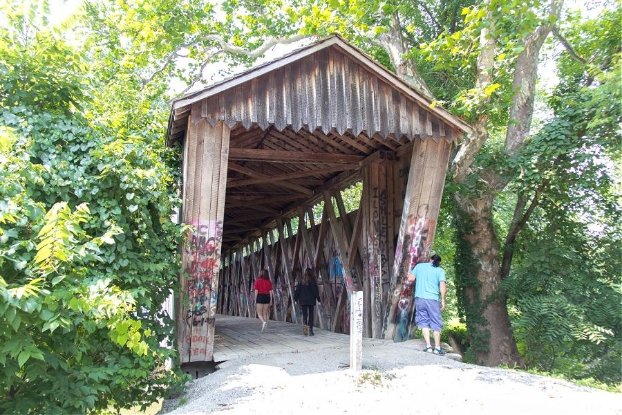 Switzer covered bridge in Frankfort Kentucky