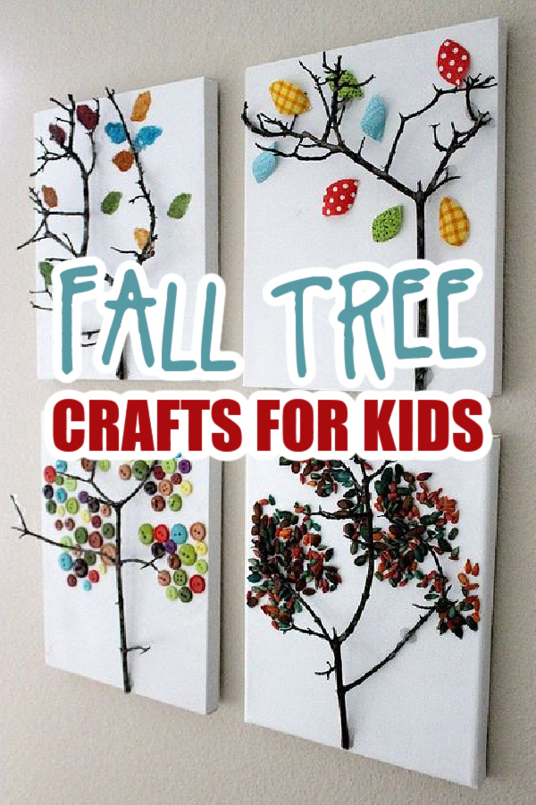 fall tree craft Pinterest image