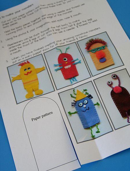 finger puppet monster pattern