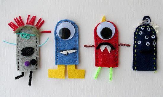 homemade monster finger puppets made by kids