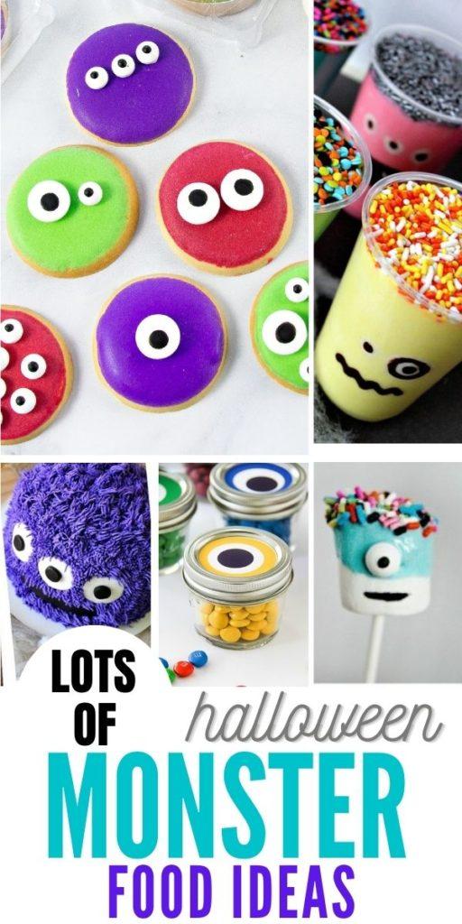 Halloween monster food ideas Pinterest image