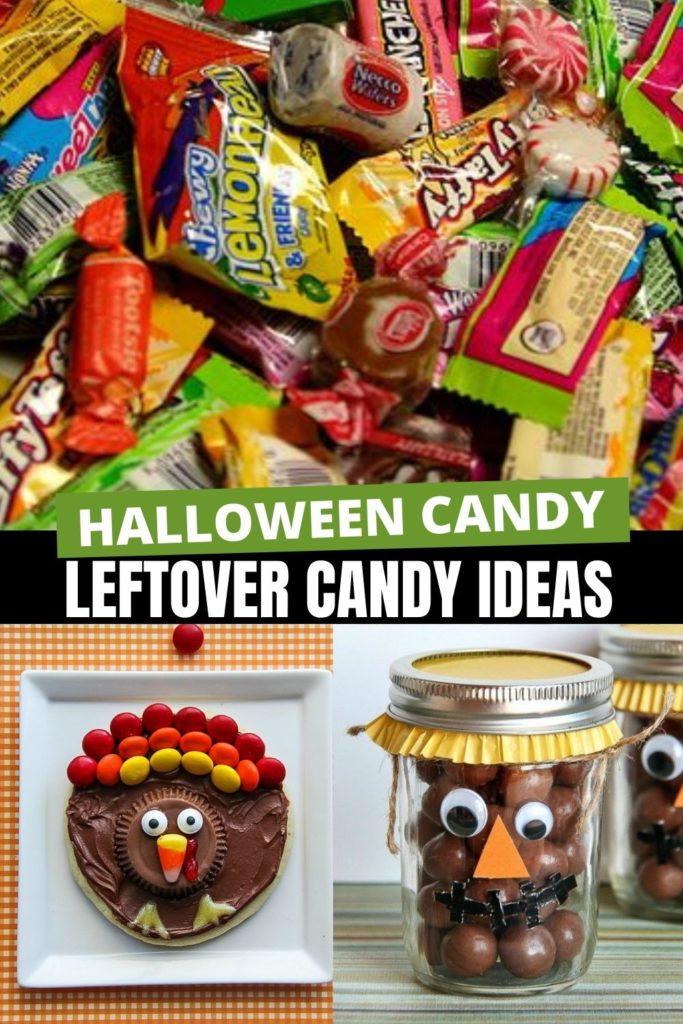 leftover halloween candy ideas Pinterest image