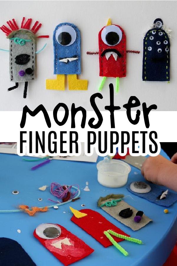 monster finger puppets pinterest image