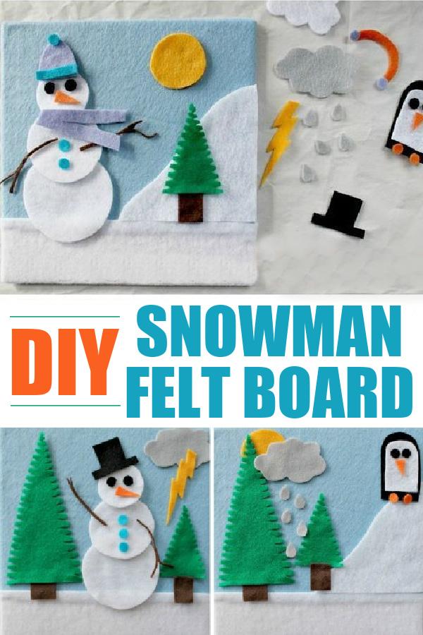 snowman craft Pinterest image