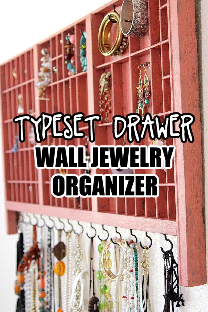 wall jewelry organizer Pinterest image