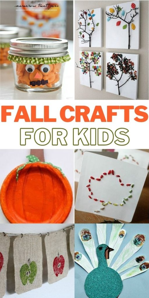 fall crafts for kids Pinterest image