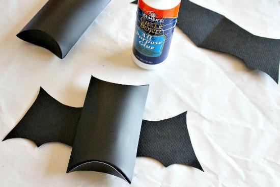 Halloween bat treat container.