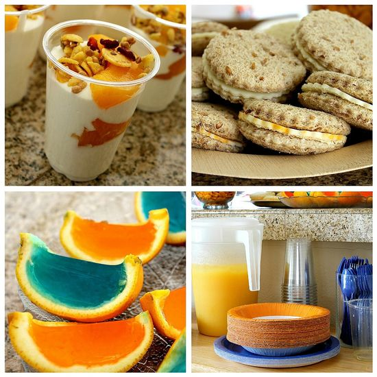 orange and blue party ideas