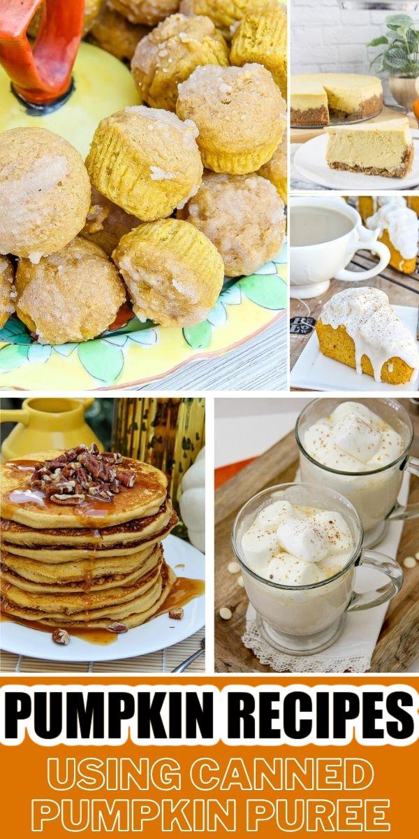 recipes using pumpkin puree Pinterest image